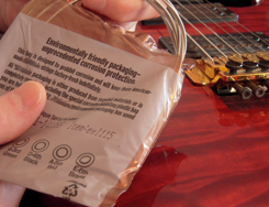 Safe Packaging for Guitar Strings....