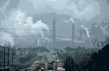 Smokestacks and pollution
