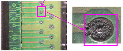 corrosion on a solder joint