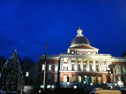 Boston Massachusetts State House Nighttime