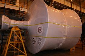 Turbine wrapped in Intercept by Rhino Plastics
