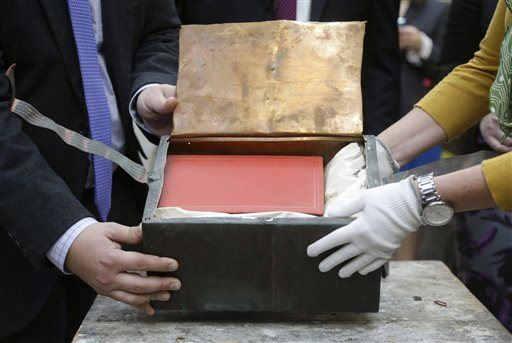Boston's Time Capsule - Packaged in Copper for Preservation