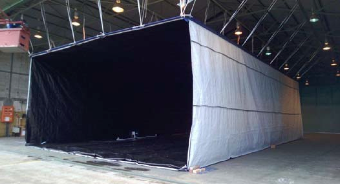 Intercept Portable Hangar is perfect for protecting planes and large vehicles