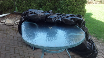 Patio Table Storage Intercept Technology Packaging
