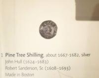 Boston 1795 time capsule Pine Tree Shilling