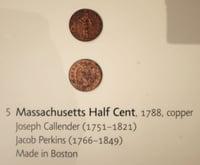 Boston 1795 time capsule Massachusetts 1/2 Cent