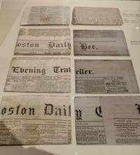 Boston 1795 time capsule newspapers