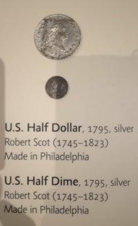 Boston 1795 time capsule U.S. half dollar