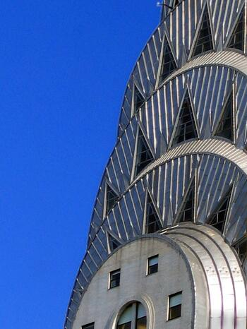 Chrysler Building made of stainless steel, could be corroding
