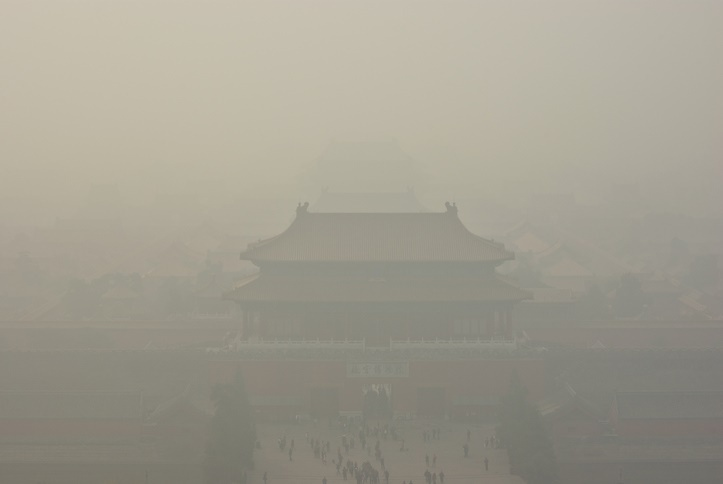 The Forbidden City under a cloud of smog - Beijing, China