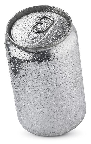 Condensation forms easily on this aluminum can