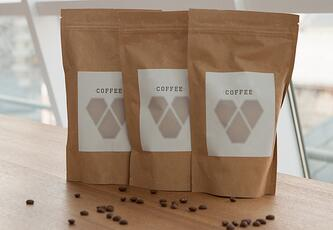 Flexible packages of coffee
